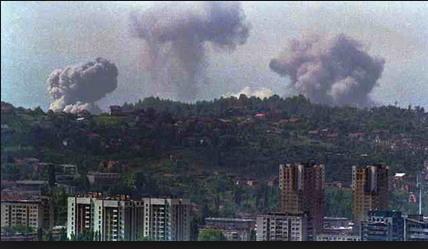 bosnia war bombing  yugoslavaia